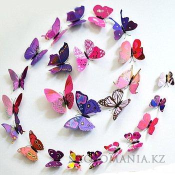3д бабочки с трафаретом 132