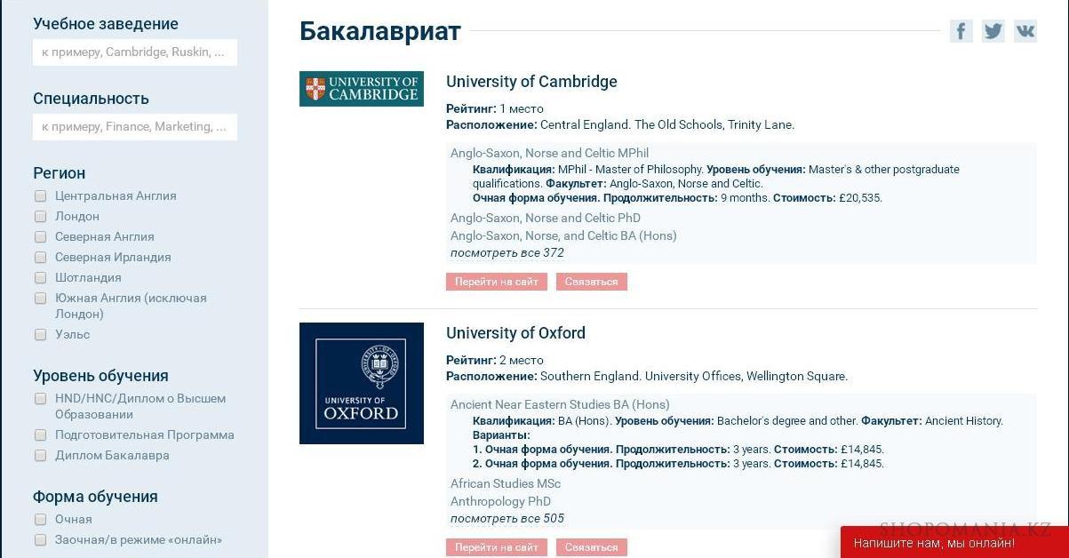 Сайт китайских университетов для стипендии