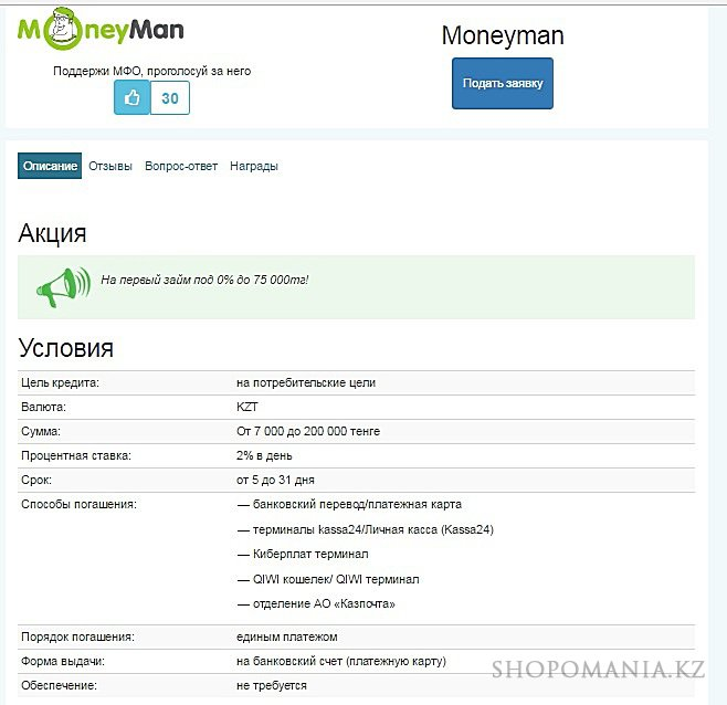 Онлайн кредиты до зарплаты в Казахстане