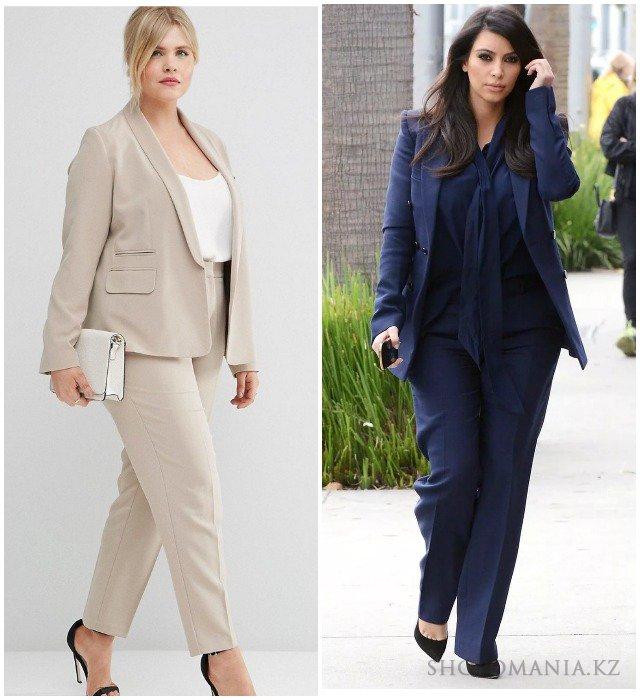 6854d747a7574 В модных коллекциях и именитых дизайнеров, и демократичных брендов  настолько много разнообразных фасонов брючных костюмов, что подобрать  «свой» сможет любая ...