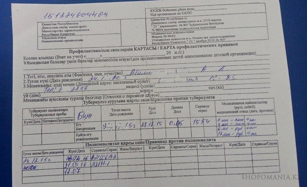 Прививочная карта 063 у Деловой центр если анализы крови хорошие может ли быть онкология